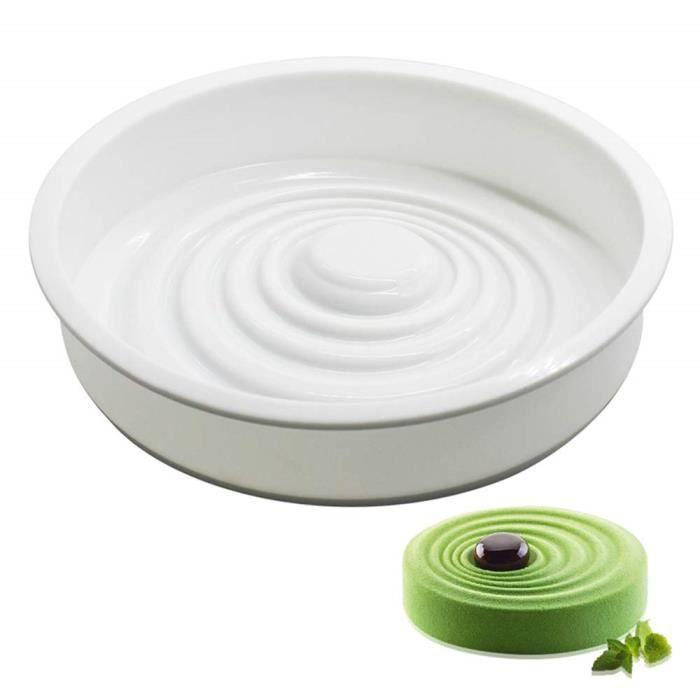 1PC Moules Silicone Gâteau Mousse Pâtisserie Forme Coeur Losange Ronde Fleur Accessoire Outils de Cuisine Cadeau
