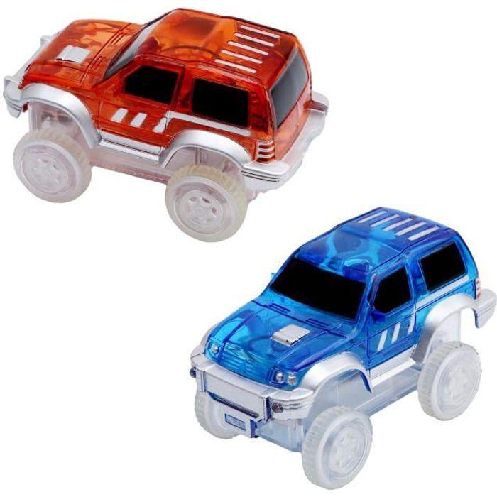 Lot de 2 voitures lumineuses pour le Circuit Flexible et Lumineux