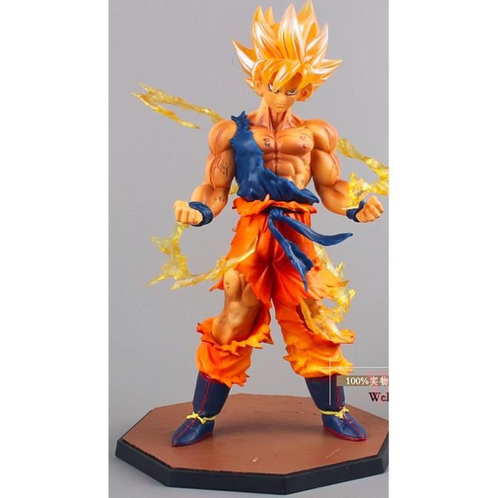figurine dragon ball z super saiyan son goku achat vente figurine personnage les soldes. Black Bedroom Furniture Sets. Home Design Ideas