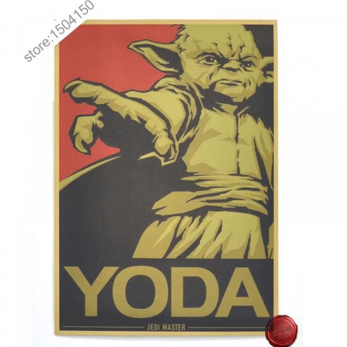 poster yoda achat vente poster yoda pas cher les soldes sur cdiscount cdiscount. Black Bedroom Furniture Sets. Home Design Ideas