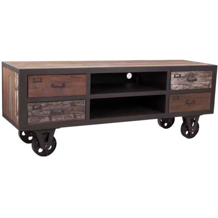 meuble tv vintage design industriel achat vente meuble tv meuble tv vintage design. Black Bedroom Furniture Sets. Home Design Ideas