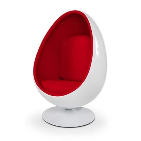 fauteuil enfant oeuf ball pod blanc rouge achat vente fauteuil cdiscount. Black Bedroom Furniture Sets. Home Design Ideas