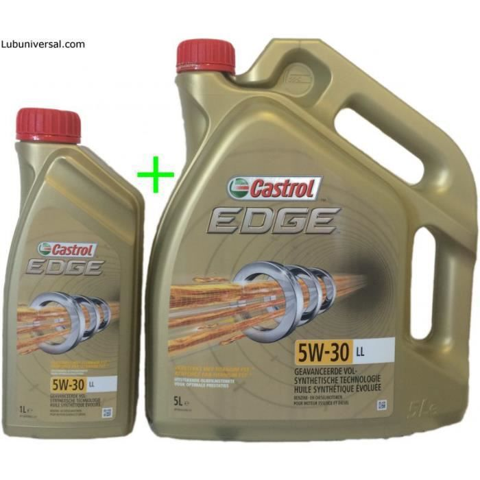 castrol edge titanium fst ll 5w30 1 bidon de 5l 1 bidon 1l achat vente huile moteur. Black Bedroom Furniture Sets. Home Design Ideas