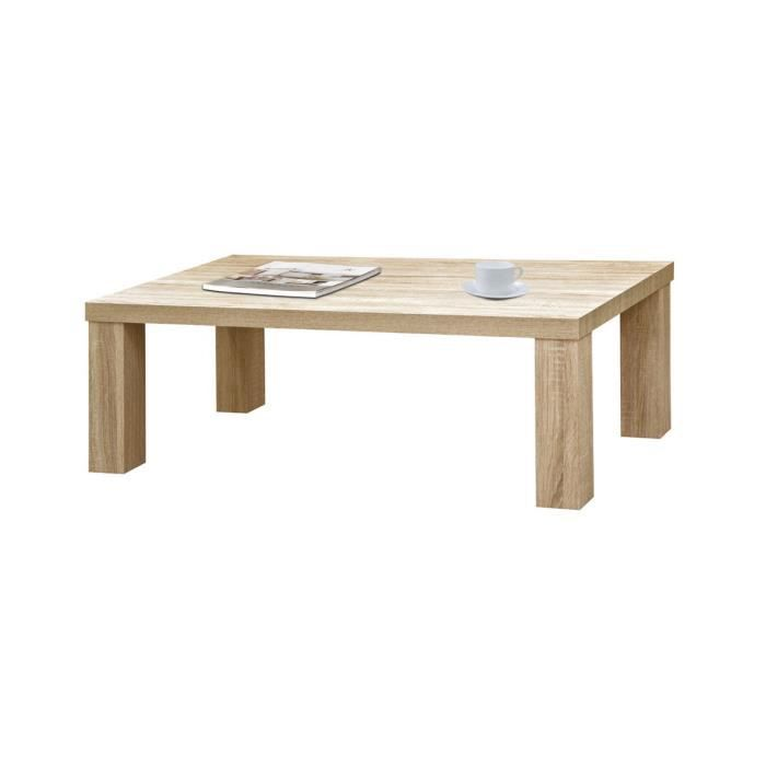 Table Basse Ch Ne Naturel Clovis Achat Vente Table