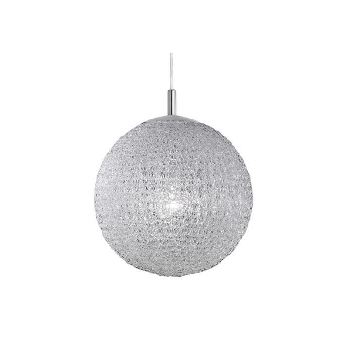 Suspension design boule blanche 40 achat vente for Suspension boule