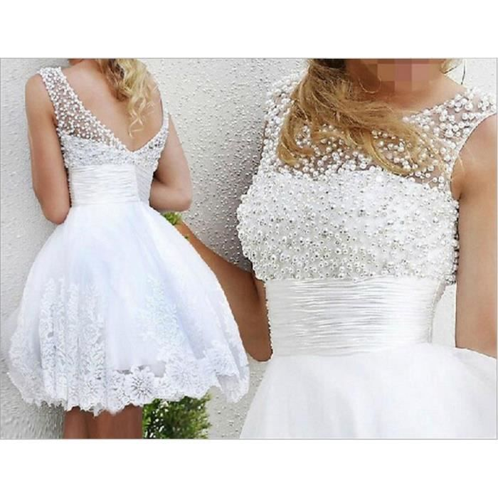 2017 Robe De Mariage Robe de mariée courte
