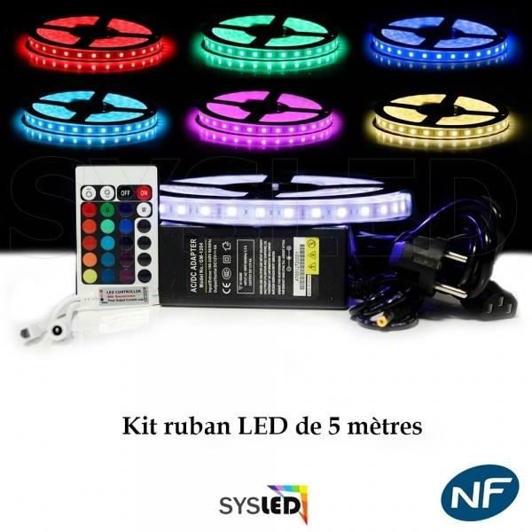 kit ruban led 5050 ip68 achat vente guirlande d 39 exterieure kit ruban led 5050 ip68 cdiscount. Black Bedroom Furniture Sets. Home Design Ideas