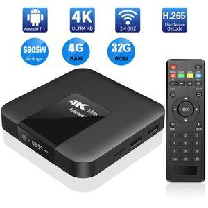 BOX MULTIMEDIA TV Box, 4Go 32Go - ARTIZLEE® Smart Box TV 4K Max D