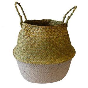 CASIER POUR MEUBLE Panier thaïlandais à 2 anses en fibre végétale - Ø
