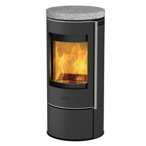 POÊLE À BOIS Fireplace - poêle à bois 5kw acier noir - k6013