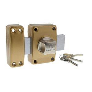 Serruprix 00550231 Lot de 3 verrous de porte /à bouton et cylindre /ø 23 x 40 mm avec cl/és identiques