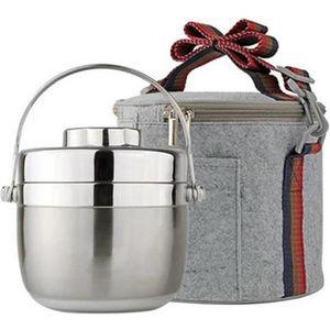 LUNCH BOX - BENTO  1.2L Boîte de Repas  Boîte Alimentaire Garde-chaud