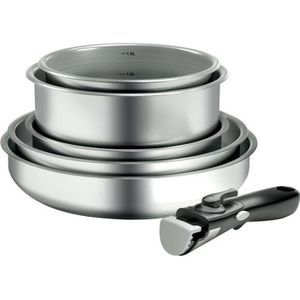 BATTERIE DE CUISINE BACKEN 199906 - Set de Poeles et Casseroles - INOX