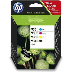 CARTOUCHE IMPRIMANTE HP 934XL/935XL pack de 4 cartouches d'encre noire/