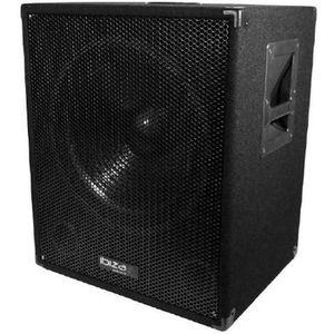ENCEINTE ET RETOUR Caisson bi-amplifié 800W IBIZA SOUND CUBE1512-SOLO