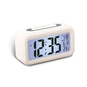 Radio réveil LEEGOAL Réveil numérique multifonction (blanc, ABS