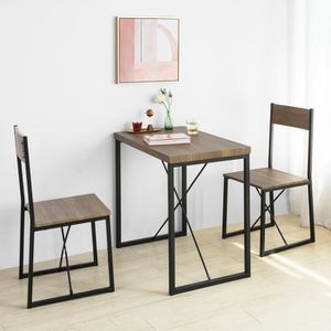 TABLE À MANGER COMPLÈTE SoBuy® OGT19-N Set de 1 Table + 2 Chaises Table à
