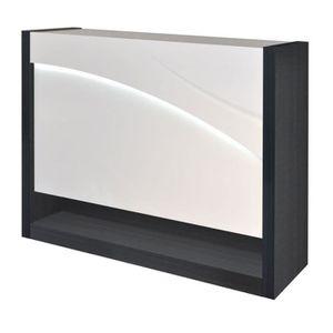 MEUBLE BAR ECLYPSE Bar à LED aménagé - Gris - L 125 x l 40 x