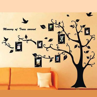 Family Tree Wall Decal Autocollant Large Vinyle Cadre photo amovible noir