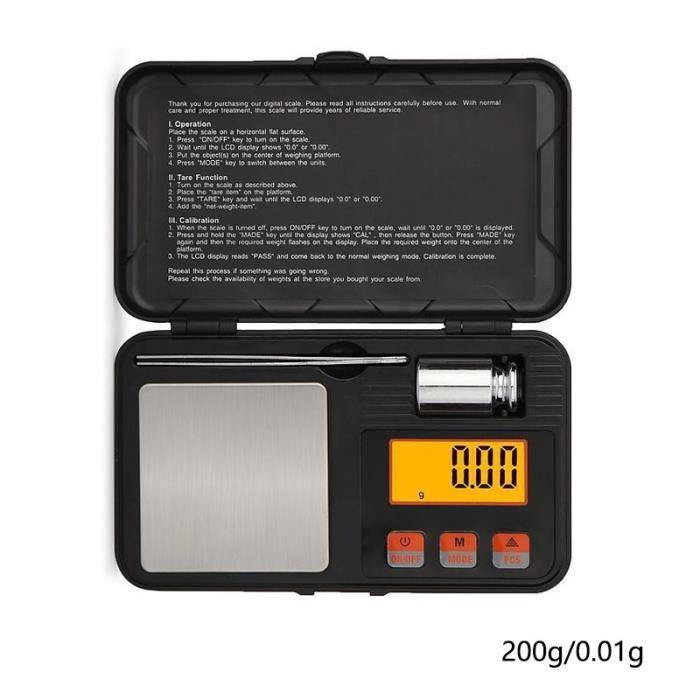 200 - 0.01G Échelle de Bijoux Mini Haute Précision LCD numérique Balance de Poche Balance de Cuisine Pour ou