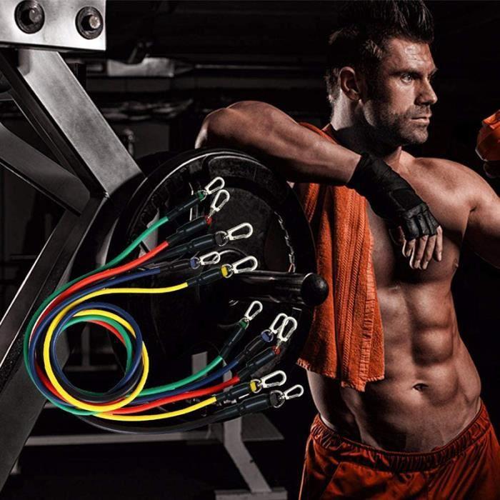 Bilingda® Kit de 11 Bandes de résistance Bande Élastique Fitness Bandes d'exercice pour Entraînement Sport à l'interieur Yoga Pilate