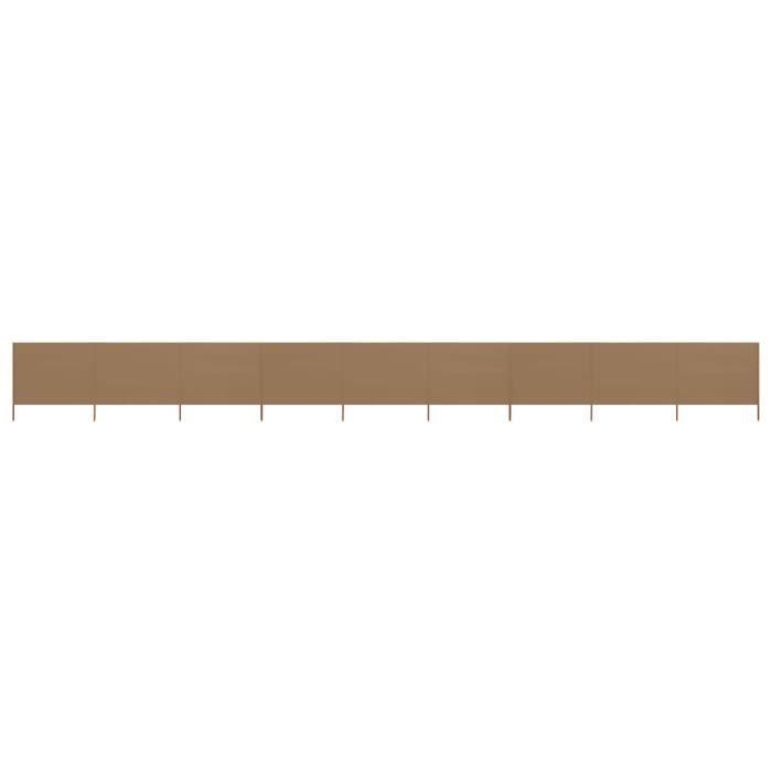 Well•8004Super Paravent extérieur rétractable Paravent Store vertical Auvent Latéral Jardin & Terrasse Brise-Vue 9 panneaux Tissu 12