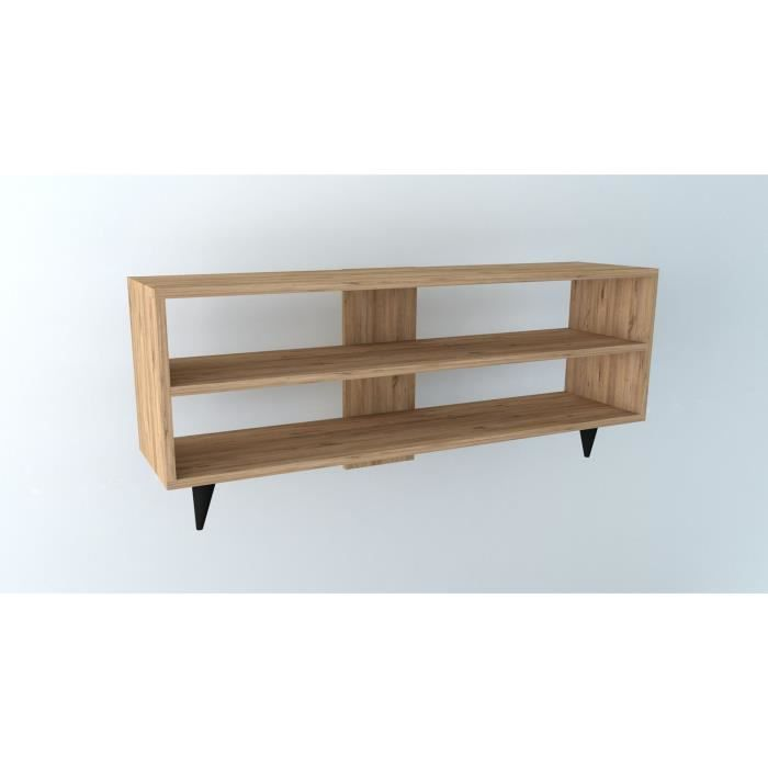Meuble TV One 120 cm - Bois naturel