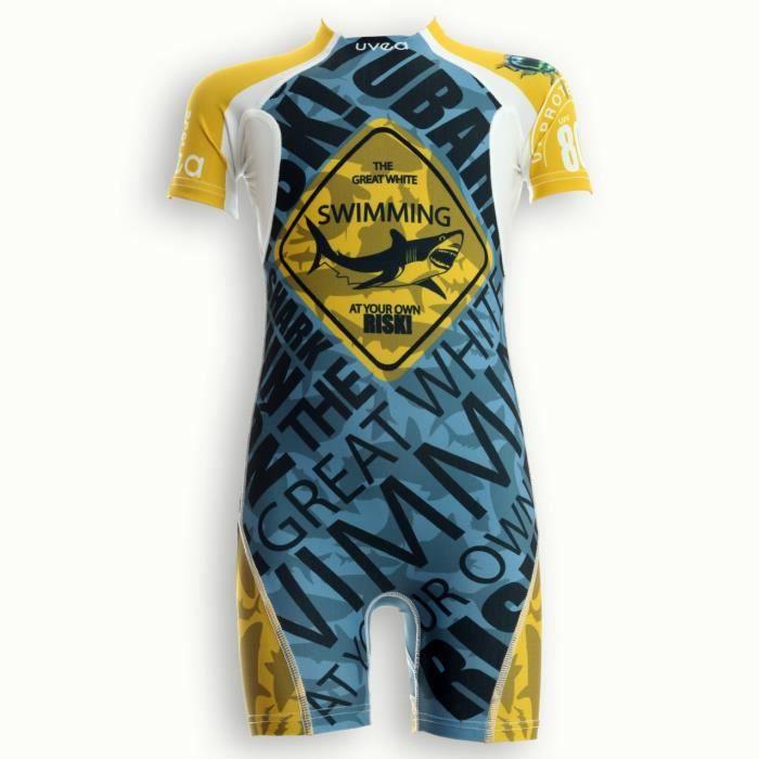 UVEA Combinaison maillot de bain kidsguard anti UV 80+ Manly - Taille 9/18 mois - Imprimé scareme