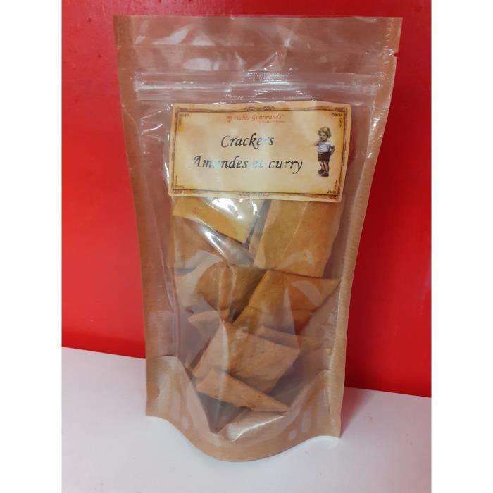 Biscuits salés crackers Amande Curry