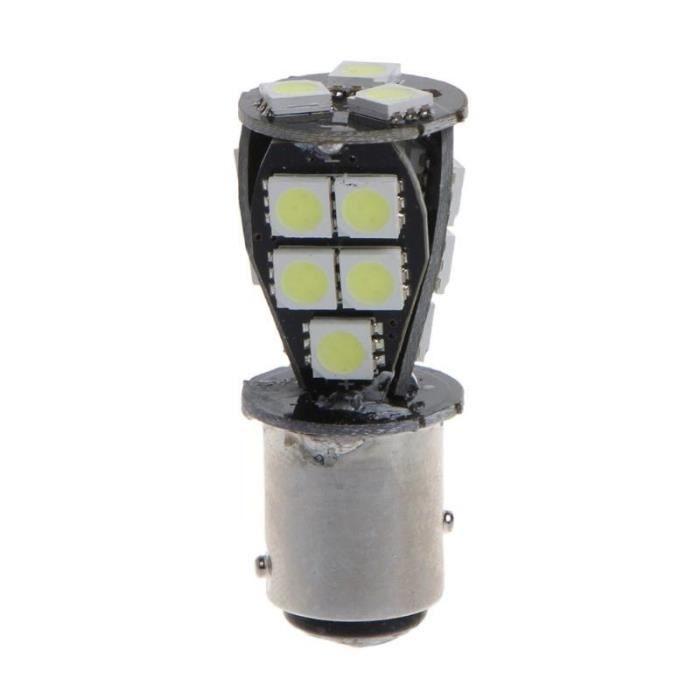 Ampoule blanche CANBUS 1157 BAY15D 21 LED 5050 SMD P21-5W, feu arrière de frein DC 12V COCOTTE MOTO - TOI0324