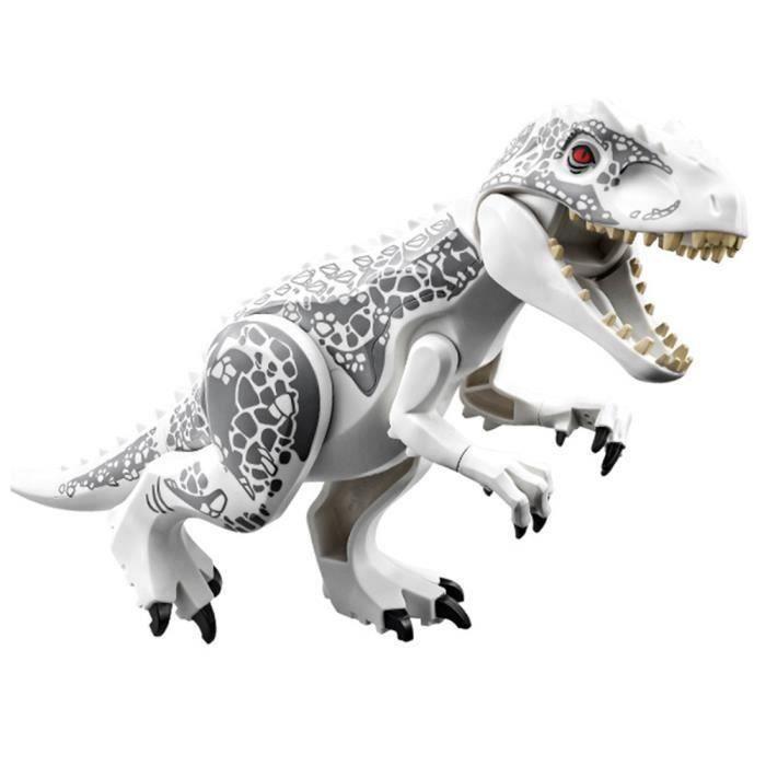 MMRM Jeu de Construction - Dinosaure - Blocs de construction en Plastique - 28,5 * 17 * 5,5 cm - Blanc