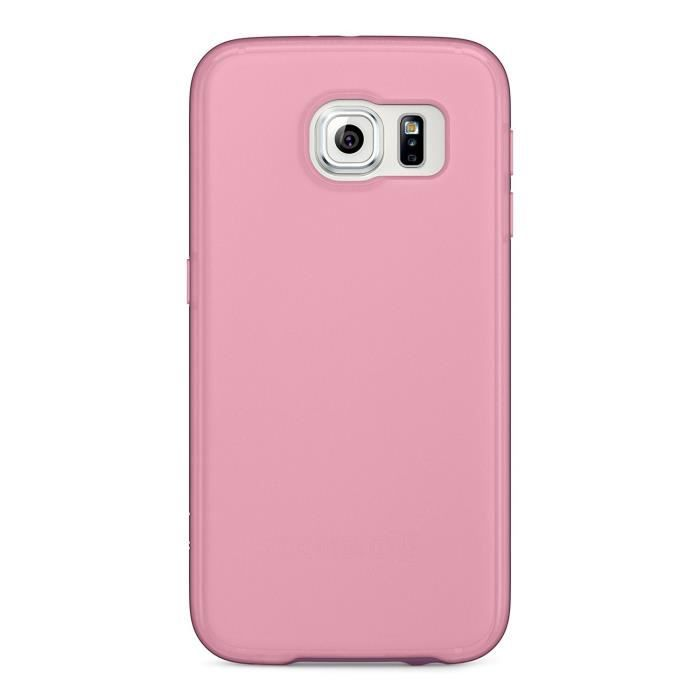 BELKIN Etui grip candy en TPU pour Samsung Galaxy S6 - Rose transparent