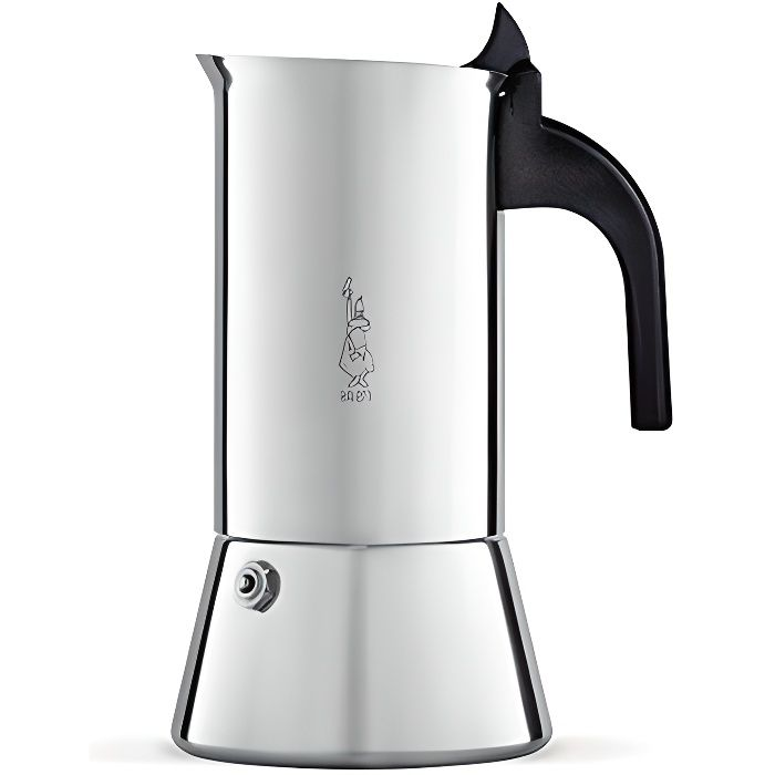 Bialetti 0001685 Cafetière italienne (Induction), Acier Inoxydable, Argent, 10 Tasses