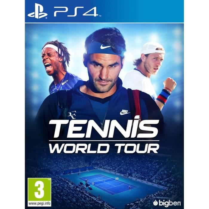 Tennis World Tour jeu PS4