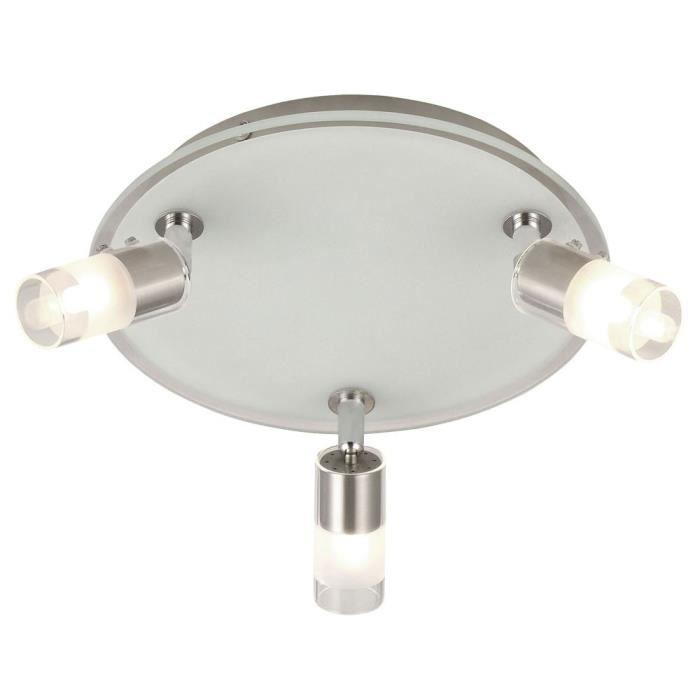 Éclairage plafonnier luminaire plafond lampe spots mobiles verre clair satiné