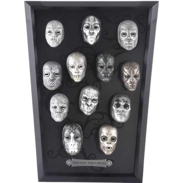 Tableau de masques Harry Potter des Mangemorts