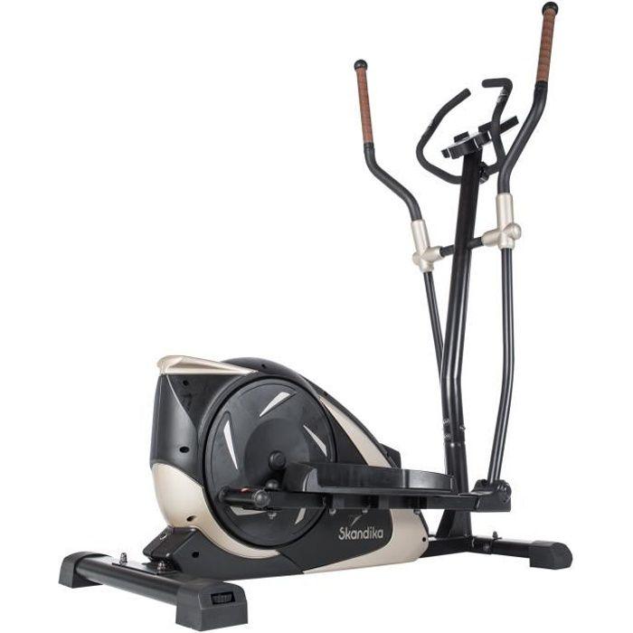 Skandika Adrett - Vélo elliptique Crosstrainer - Bluetooth - Appli - 15 Prog - 32 Niveaux de résistance - Inertie 12 kg - Max. 130