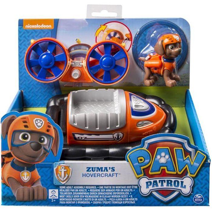 Véhicule avec figurine Pat'Patrouille (PAW Patrol) : Hovercraft et Zuma aille Unique Coloris Unique