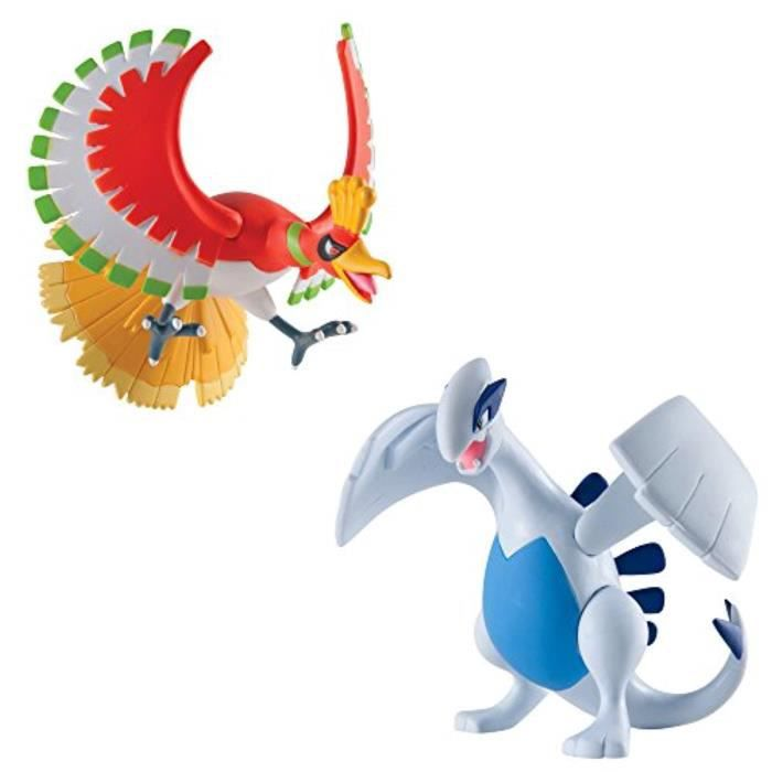Figurine Miniature TOMY X8TIP Pokmon Multi Legendary Figure Pack, Lugia And Ho-Oh