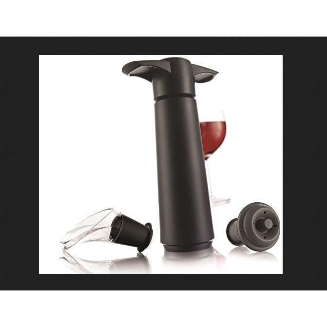 Coffret Pompe À Vin Vacuvin Coffret Avec 1 Pompe À Vide D'Air, 2 Bouchons, 2 Wine Servers