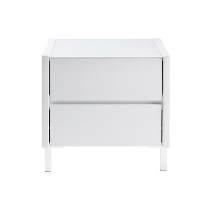 Table de chevet laqu e blanche achat vente chevet table de chevet laqu e - Table de chevet blanche ...