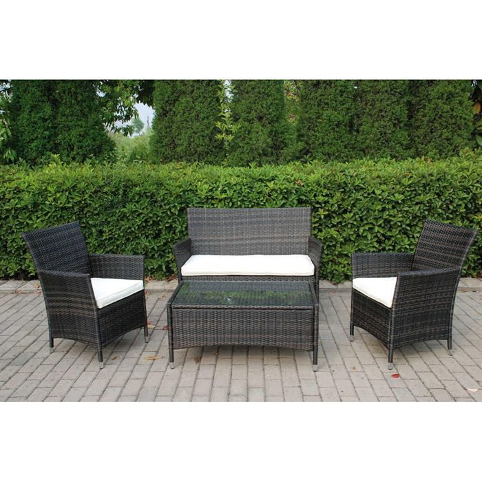ensemble sofa 2 places 2 fauteuils 1 table achat vente salon de jardin ensemble dream. Black Bedroom Furniture Sets. Home Design Ideas