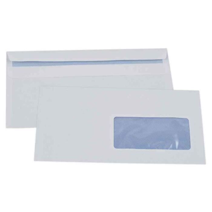 1382-500 Enveloppes blanches 110 X 220 mm