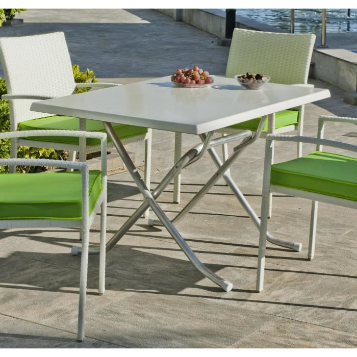 table de jardin pliante type bistrot 120x80cm achat vente table basse jardin table de. Black Bedroom Furniture Sets. Home Design Ideas