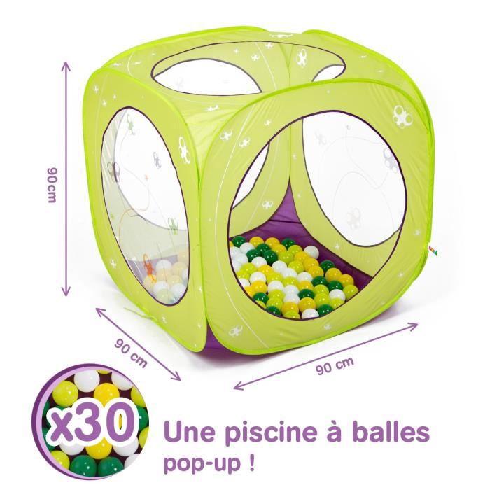 Set de 4 balles r/éfl/échissantes et sensorielles TICKIT