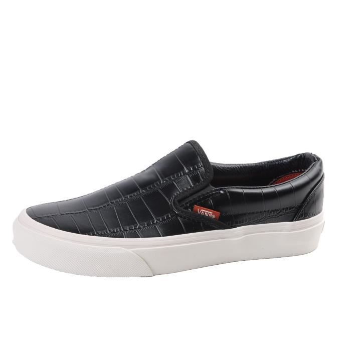 vans leather noir