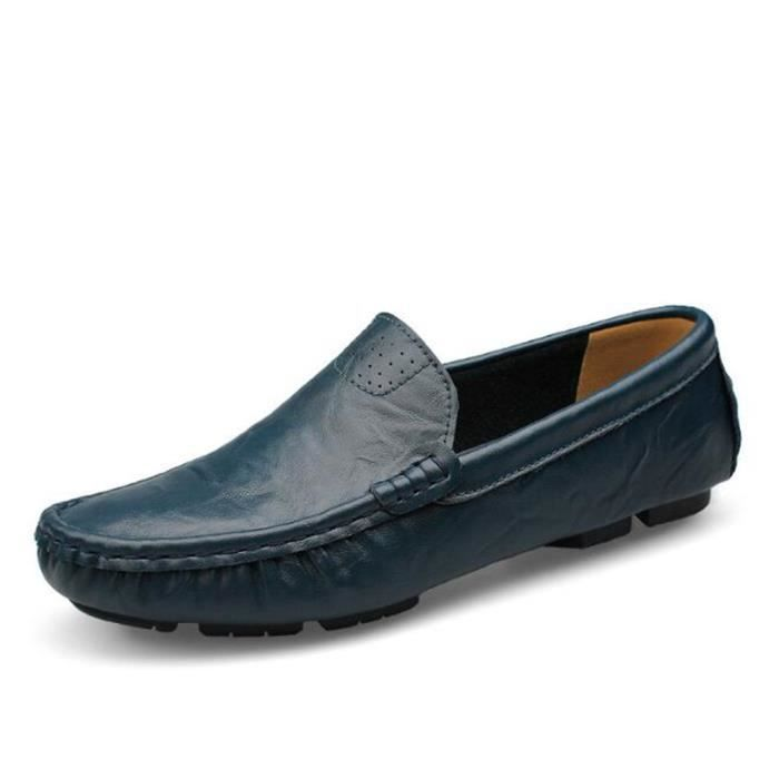 Mocassin Hommes Mode Chaussures Grande Taille Chaussures BBDG-XZ73Bleu39