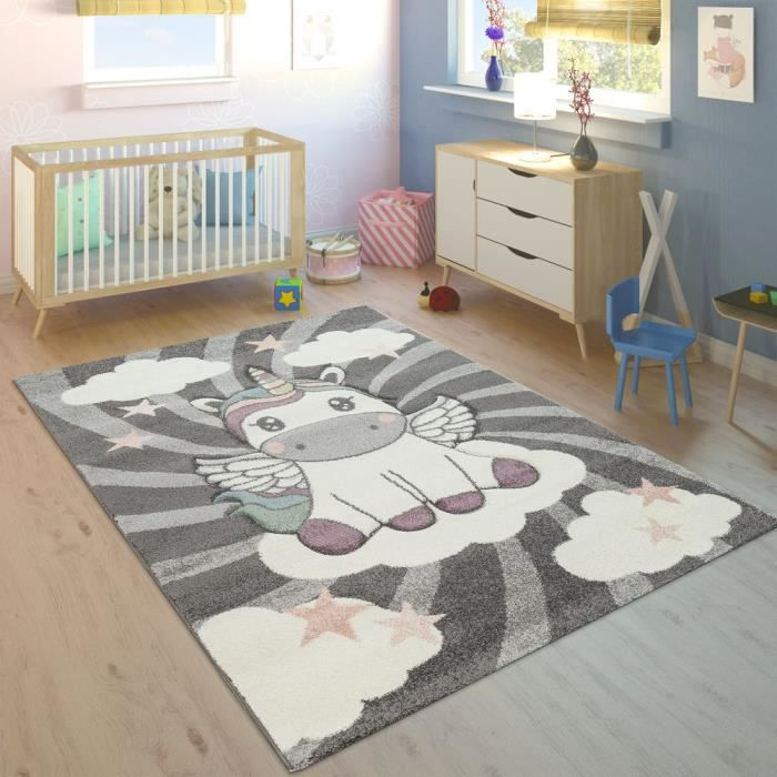 ENFANTS TAPIS FILLES PAPILLON ROSE VIOLET BLANC Gr/ö/ße 80x150 cm