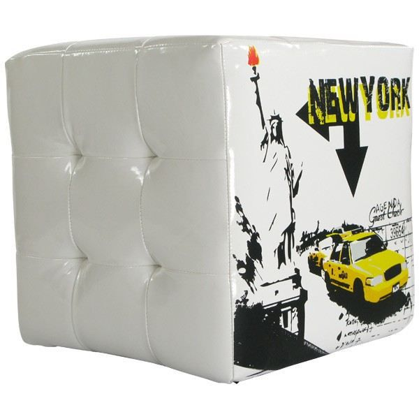 pouf carr d cor new york achat vente pouf poire cdiscount. Black Bedroom Furniture Sets. Home Design Ideas