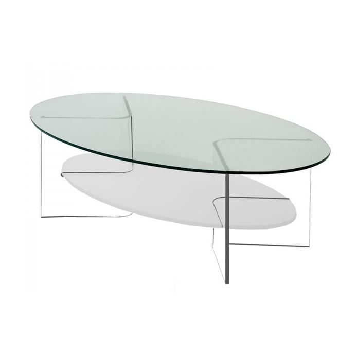table basse marina ii ovale en verre et plexi achat. Black Bedroom Furniture Sets. Home Design Ideas